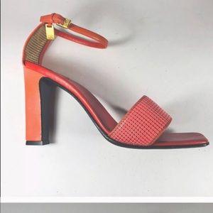 Celine melon leather mesh sandals 39